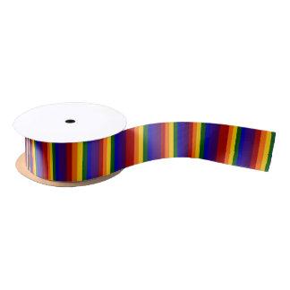 Rayas coloreadas arco iris lazo de raso