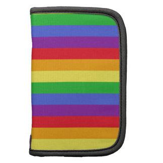 Rayas coloreadas arco iris planificadores