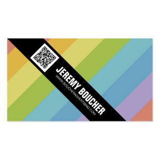 Rayas coloreadas diagonal - multi tarjetas de visita