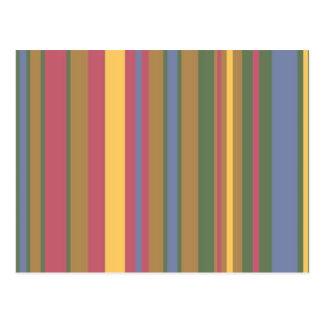rayas coloreadas hermosas postal