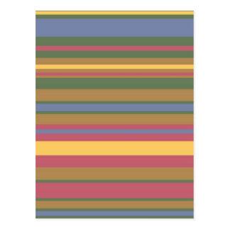 rayas coloreadas hermosas tarjetas postales
