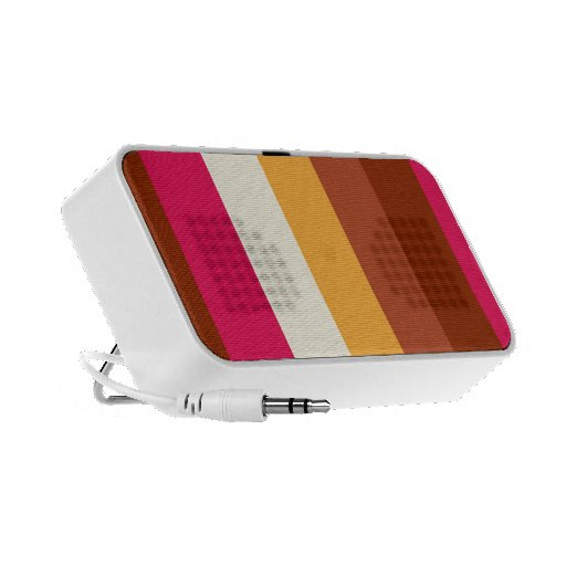 Rayas coloreadas multi iPhone altavoces