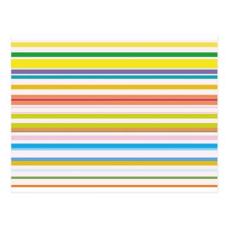 Rayas coloreadas multi postal