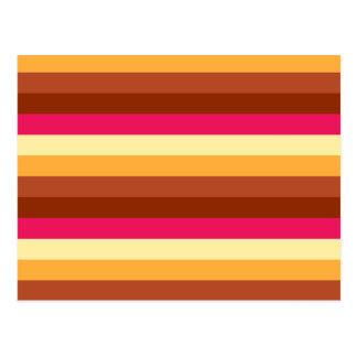 Rayas coloreadas multi postales