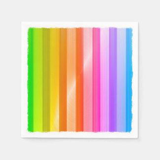 Rayas coloreadas multi servilleta de papel