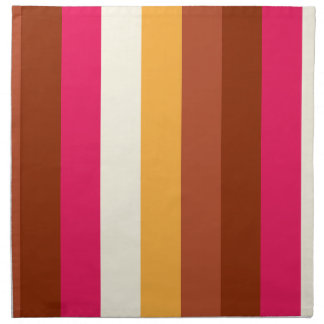 Rayas coloreadas multi servilleta imprimida