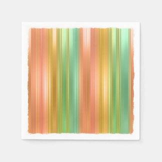Rayas coloreadas multi servilletas de papel