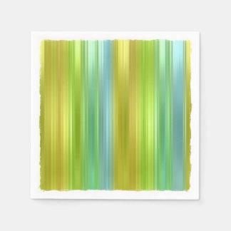 Rayas coloreadas multi servilletas desechables