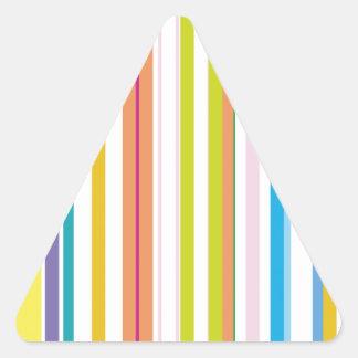 Rayas coloreadas multi calcomanía de trianguladas