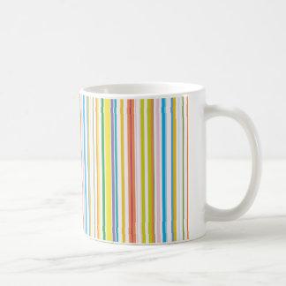 Rayas coloreadas multi taza clásica