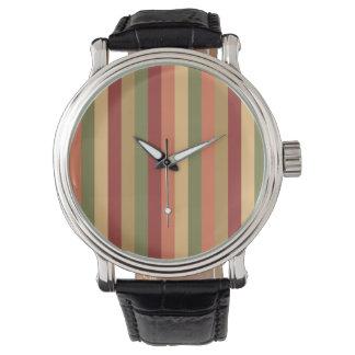 Rayas coloreadas reloj de mano