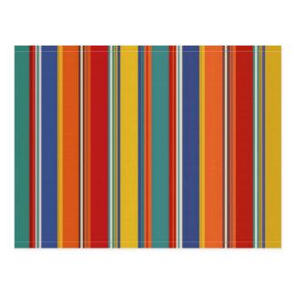 Rayas coloreadas tarjeta postal