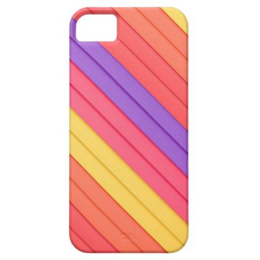 Rayas coloridas 3D iPhone 5 Cárcasa