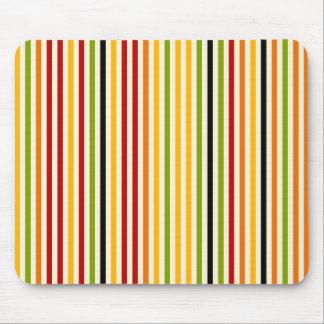 Rayas coloridas abstractas Mousepad Tapete De Ratón