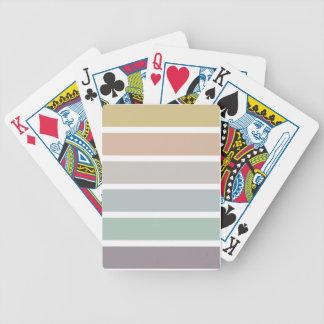 Rayas coloridas baraja de cartas bicycle