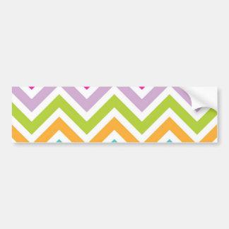 Rayas coloridas de los galones pegatina de parachoque
