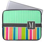 Rayas coloridas de moda fundas portátiles