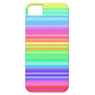 rayas coloridas del arco iris de la diversión iPhone 5 Case-Mate protectores