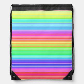 rayas coloridas del arco iris de la diversión mochilas