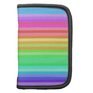 rayas coloridas del arco iris de la diversión planificadores