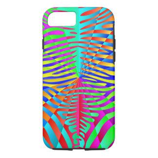 Rayas coloridas del arco iris del modelo de moda funda iPhone 7