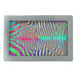 Rayas coloridas del arco iris del modelo de moda hebilla de cinturon rectangular