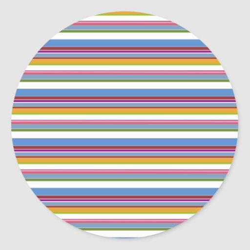 Rayas coloridas del arco iris pegatinas