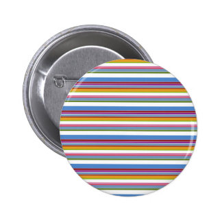 Rayas coloridas del arco iris pin redondo de 2 pulgadas