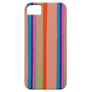Rayas coloridas del payaso de circo iPhone 5 carcasa