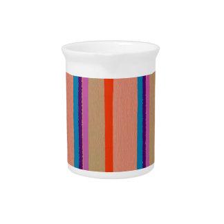 Rayas coloridas del payaso de circo jarra de beber