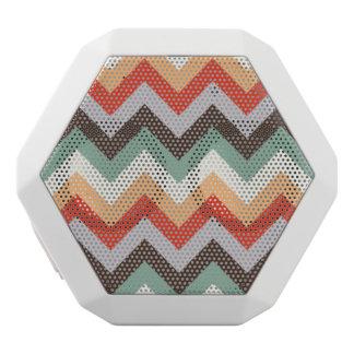 Rayas coloridas del zigzag altavoz
