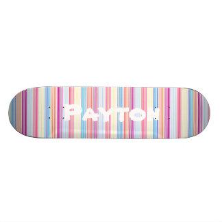Rayas coloridas femeninas personalizadas del patin