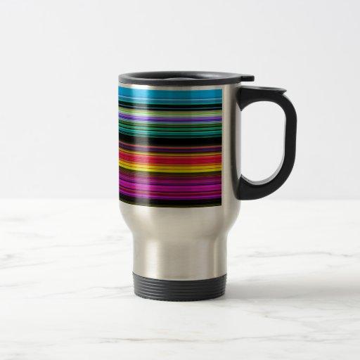 Rayas coloridas finas - 2 taza
