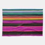 Rayas coloridas finas - 2 toallas de cocina