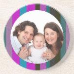 Rayas coloridas/foto posavasos personalizados