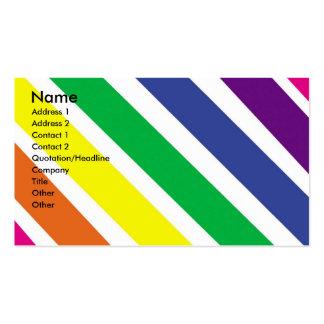 Rayas coloridas gruesas tarjetas de visita