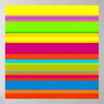 Rayas coloridas impresiones