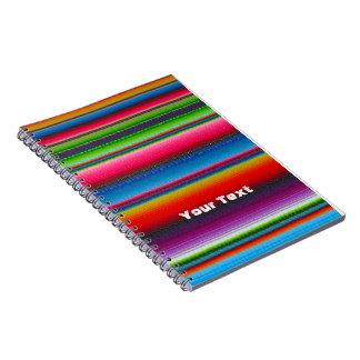 Rayas coloridas libro de apuntes con espiral