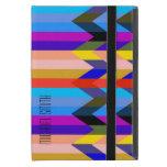Rayas coloridas modernas de Chevron de la raspa de iPad Mini Carcasas