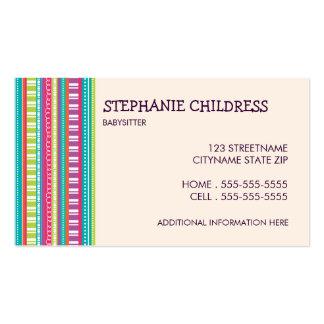 Rayas coloridas que cuid losan nin¢os la tarjeta