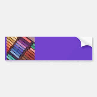 Rayas coloridas (rosa, púrpura, verde, amarillo) pegatina para auto