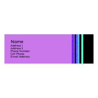 rayas coloridas tarjetas de visita mini