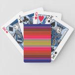 Rayas coloridas vibrantes baraja de cartas