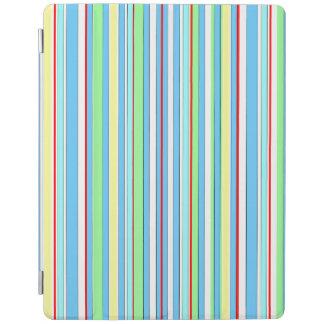 Rayas combinadas azules claras cubierta de iPad
