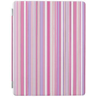 Rayas combinadas rosadas cover de iPad