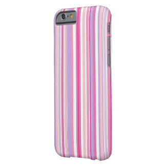 Rayas combinadas rosadas funda de iPhone 6 barely there
