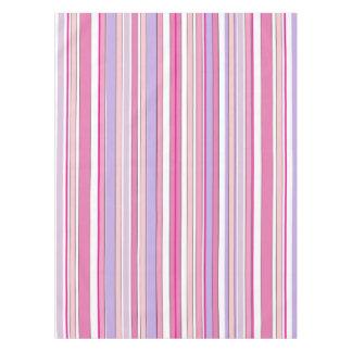 Rayas combinadas rosadas mantel