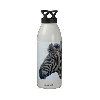 Rayas con clase africanas lindas del safari de la  botella de beber