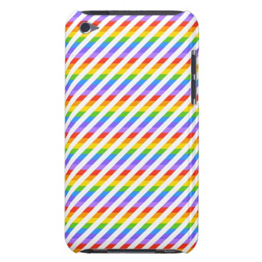 Rayas con colores del arco iris Case-Mate iPod touch protectores