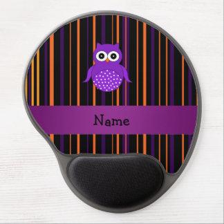 Rayas conocidas personalizadas de Halloween del bú Alfombrilla Con Gel